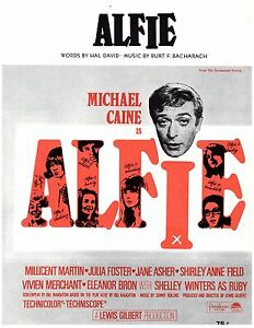 ALFIE-Sheet-Music-SHELLEY-WINTERS-amp-MICHAEL-CAINE-1966-Piano-Vocal