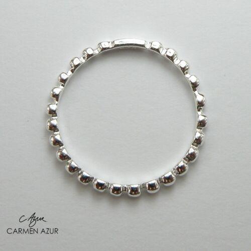 Gift Bag Solid 925 Sterling Silver Ring Beaded J1//2,L,L1//2,N,N1//2,P1//2,R1//2,S