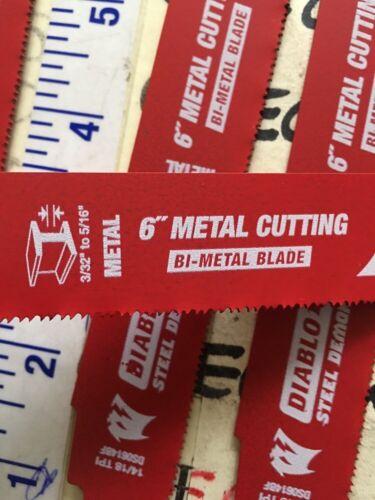 "4X Diablo 6"" 14//18 TPI Steel Demon Medium Metal Cutting Reciprocating Saw Blades"