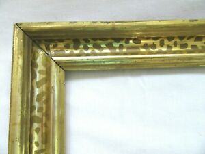 Antique-Fits-8-X-10-034-Lemon-Gold-Gilt-Picture-Frame-Stencil-Wood-Gesso-Fine-Art