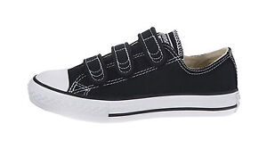 d36105487c1adb CONVERSE Chuck Taylor All Star 3 Strap Low Black White Canvas Boys ...