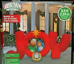 Gemmy Christmas Inflatables 2019.Details About 2019 Gemmy 8 5 Ft Nativity Joy Airblown Christmas Inflatable