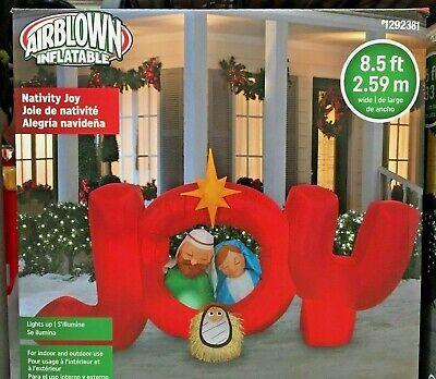 Christmas Inflatable.2019 Gemmy 8 5 Ft Nativity Joy Airblown Christmas Inflatable Ebay