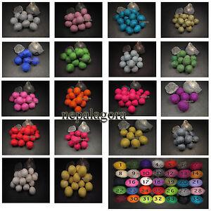 x-lot-of-CHOOSE-COLOR-pom-pom-wool-felt-ball-2cm-DIY-craft-Christmas-wholesale