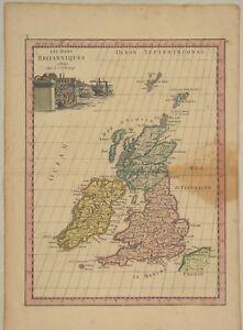 IRLAND-NORDIRLAND-Eire-Original-Landkarte-um-1780-Dublin-England-London-Europa
