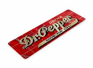 Dr Pepper Good For Life Soda Vintage Metal Decor Sign