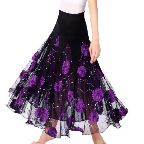 Women Ballroom Waltz Dance Costume Long Skirt Standard Modern Tango Dress #2700