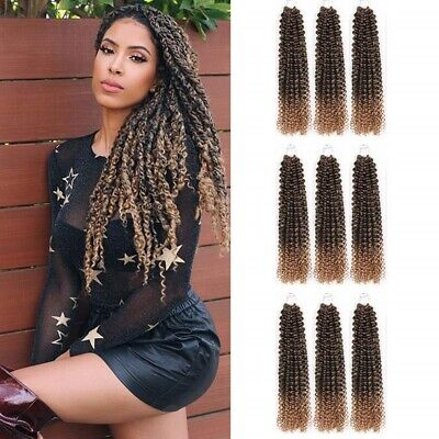6packs Passion Twist Hair 18inch Long Synthetic Crochet