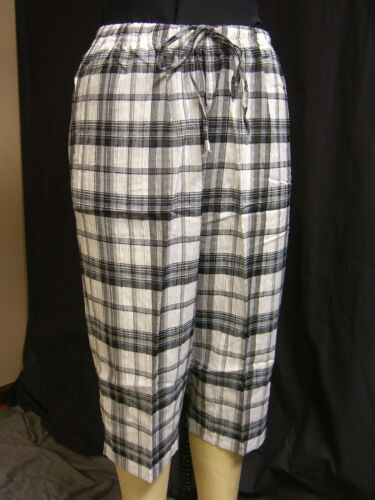 Vicki Wayne NEW Petite Plaid Seersucker Capri pants PXL.MANY COLORS PL PM PS