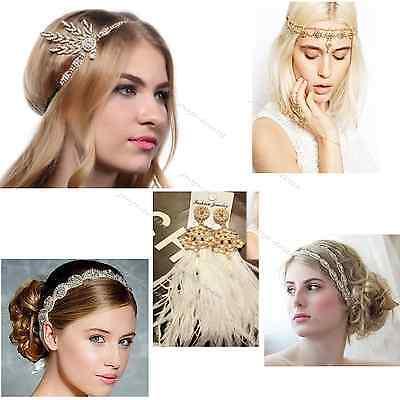 Vintage 1920s Headband Great Gatsby Flapper Costume Dress Headpiece Accessories