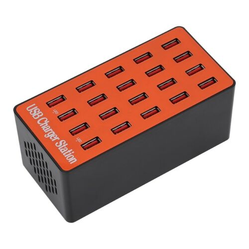 Multi Port USB Charger 18A 20-Ports AC Adapter Travel Wall Hub Charging Station