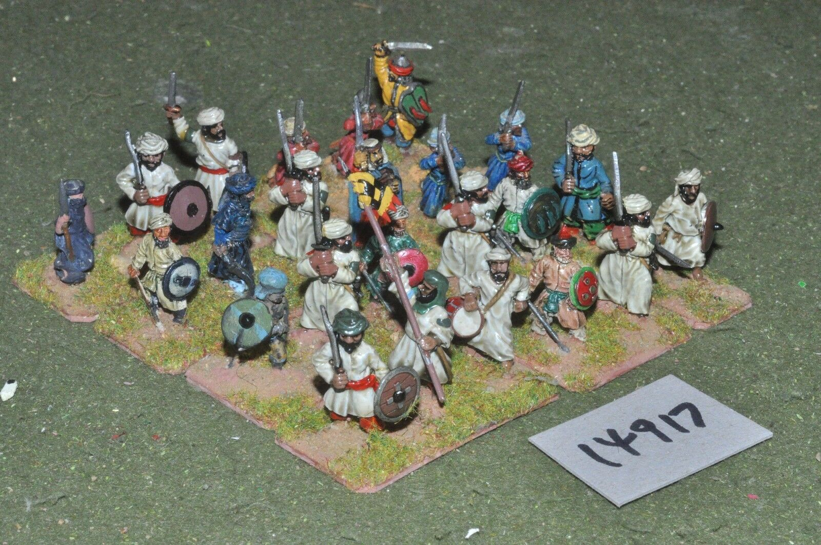 25mm medieval   turkish - seljuk swordsmen 24 figs - inf (14917)