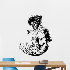 Wolverine Wall Decal Logan X Men Superheroes Vinyl Sticker