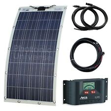 130W semi-flexible solar charging kit (eyelets and fasteners) - off-grid systems