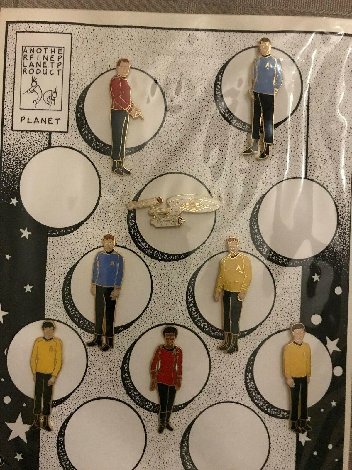 estrella Trek Enamel Pins  8 Pin Set  Rare