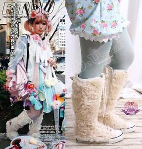 RTBU-Decora-Knee-Sneaker-Bear-Plush-Faux-Fur-Teddy-Boot