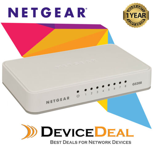 NETGEAR GS208 8 Port Gigabit Ethernet Unmanaged Switch