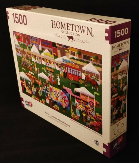 BRAND NEW SureLox Art Hometown Collection Market 1500 Piece Adult Puzzle BUYNOW!