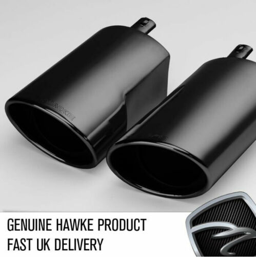 HAWKE Upgrade Exhaust Tips Black fits Range Rover Supercharged Sport 2006 L320