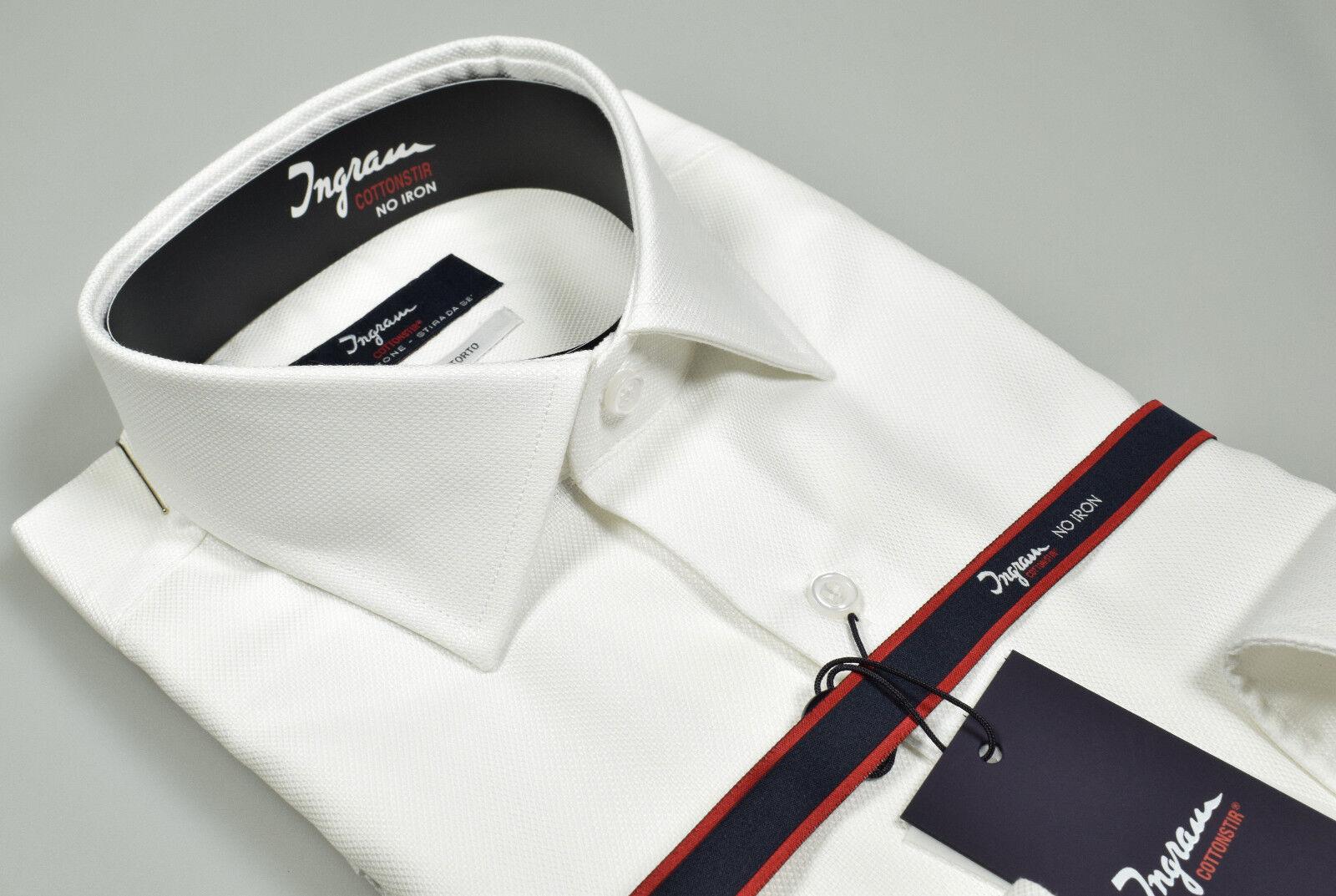 Camicia Ingram Cotone No Stiro Oxford doppio ritorto alto pregio Classic Fit