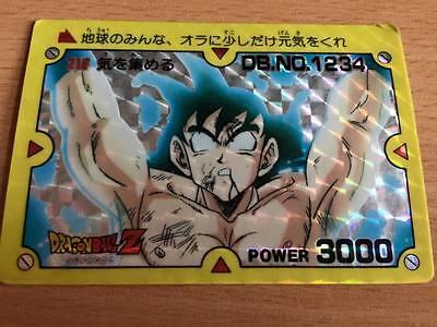 Carte Dragon Ball Z DBZ PP Card Part 6 #216 Prisme AMADA 1990 MADE IN JAPAN