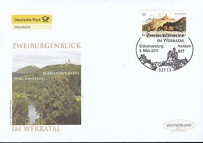 Brd 2011 Deutsche Post Fdc Minr. 2856 Selbstklebend Zweiburgenblick Im Werratal