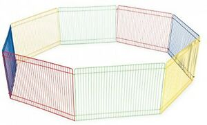 Multi Color Small Pet Playpen Non Toxic and Pet Safe With 8 Panels 36 Inch Play