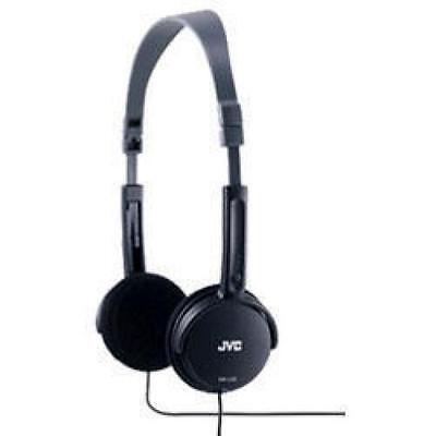 JVC Foldable Light Weight Stereo Headphones Black HAL50