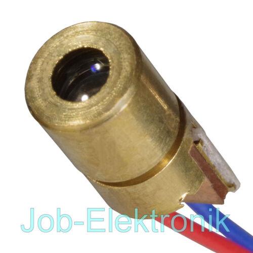Laserdiode rot 5mW Wellenlänge 650nm Messing Laser-Diode 6x14mm