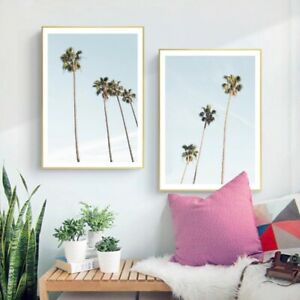 Poster Tropical Background With Palm Art//Canvas Print Home Decor Wall Art
