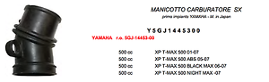 TEKNOETRE RICAMBIO MANICOTTO CARBURATORE SINISTRO per YAMAHA XP T-MAX 500 2001