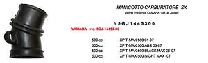 TEKNOETRE-RICAMBIO-MANICOTTO-CARBURATORE-SINISTRO-YAMAHA-XP-T-MAX-500-ABS-2005