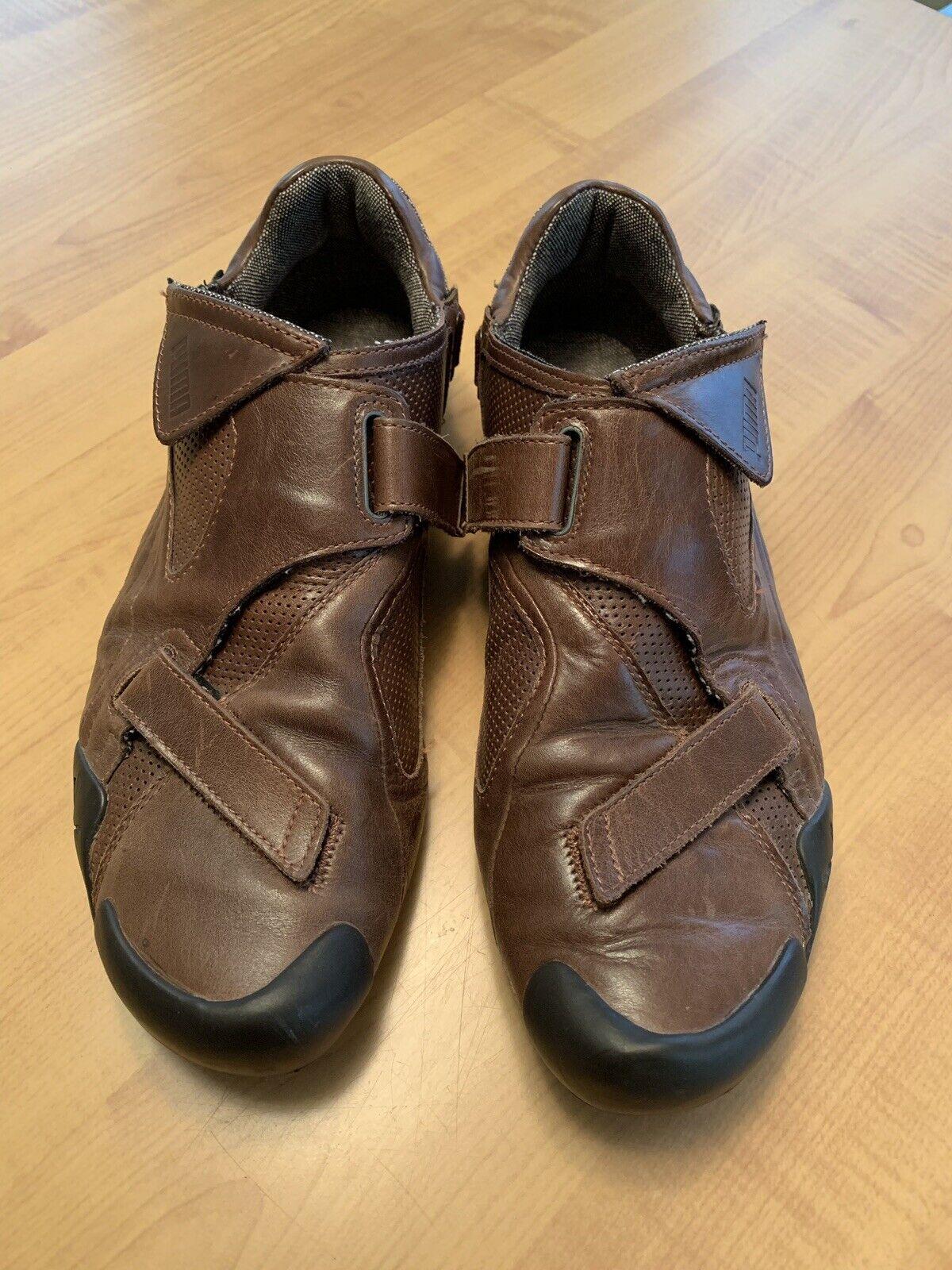 Puma Shanghai Milea Mesh Brown Leather Size 10 US
