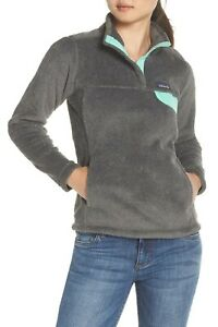 low priced 960ab 8e930 Details zu Patagonia Women's Re-Tool Snap-T Fleece Pullover Jacket Feather  Grey Size XS