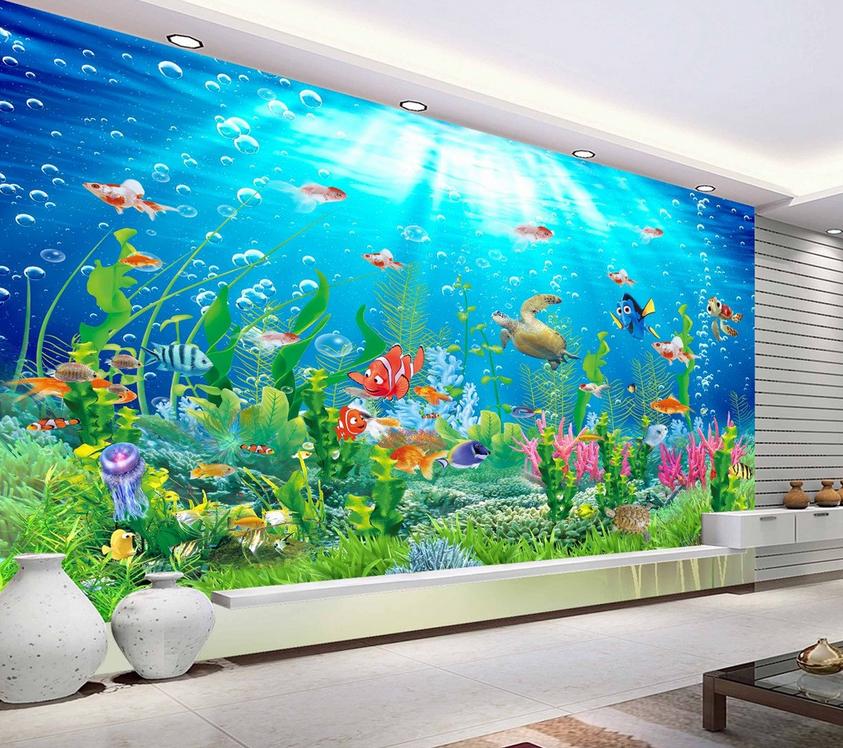 3D Ocean Kelp 455 Wallpaper Murals Wall Print Wallpaper Mural AJ WALL UK Lemon