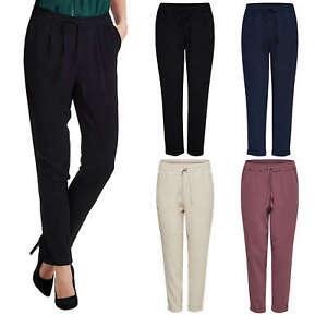 Pantalones De Tela Mujer Tienda Online De Zapatos Ropa Y Complementos De Marca