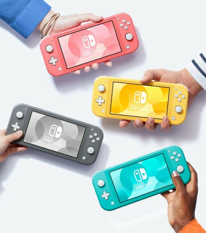Brand new Switch Lite Consoles available in various colours!