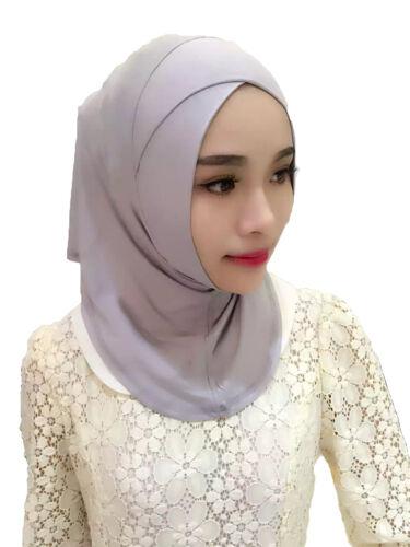 Muslim Women Scarf Hijab Criss Cross Amira Full Cover Wrap Inner Cap Underscarf