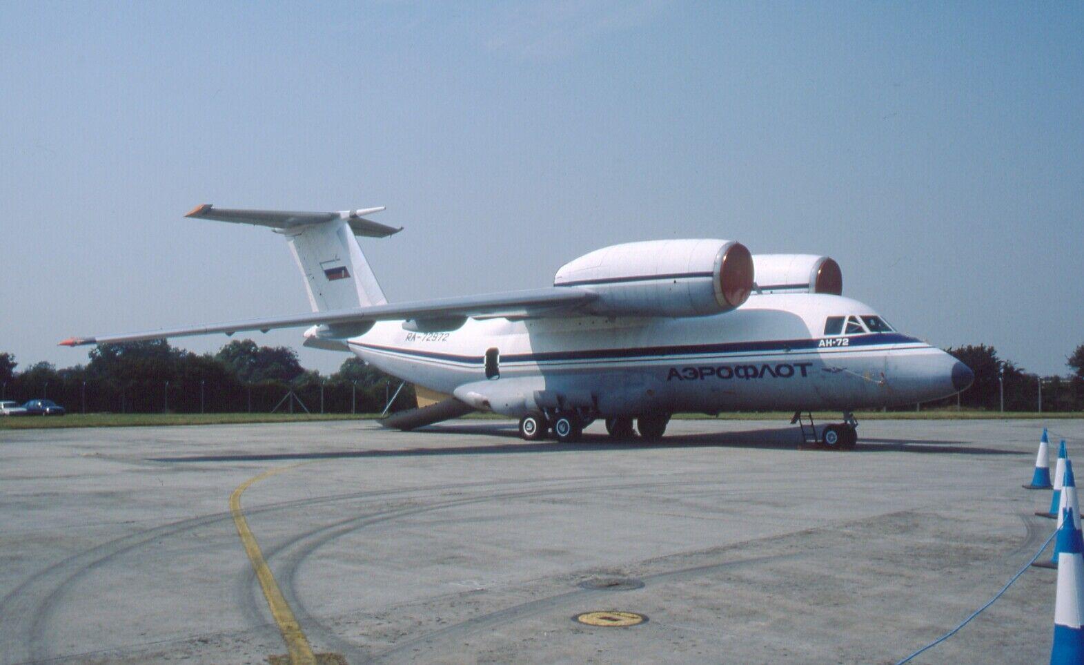Original 35mm Aircraft slide Antonov An-72 #182