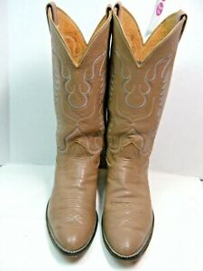 Nocona-Mens-Cowboy-Boots-Size-9-5-D-Taupe-leather-39-OS