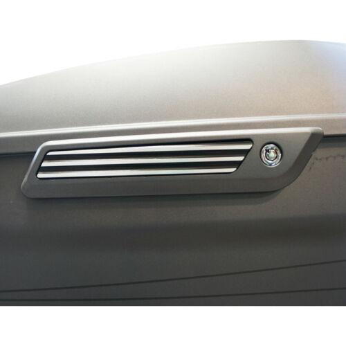 Joker Machine Black /& Silver Finned Saddlebag Lid Hinge Inserts for Harley 14-17