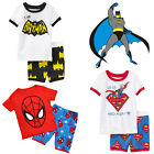 Nourrisson Enfant Garçon Spiderman Batman Superman Haut Pantalon Pyjamas Pyjama