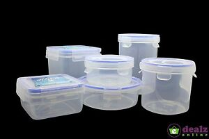 Clip-Lock-Air-Tight-Microwave-Plastic-Container-Food-Kitchen-Sandwich-Lunch-Box