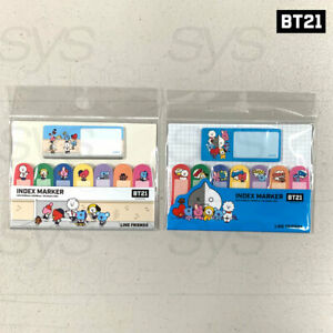 BTS BT21 Official Authentic Goods INDEX Marker Ver2 2SET by Kumhong + Tracking#