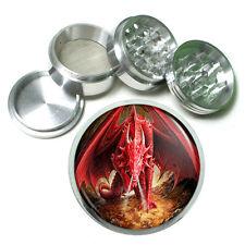 "2.5"" 4PC Aluminum Sifter Magnetic Herb Grinder Dragon Design-002 Custom"