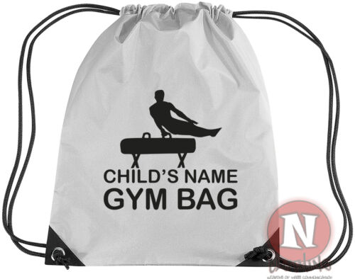 Personalised Gymnastics kit bag Drawstring gym PE school add child/'s name