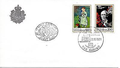 Kreativ San Marine 1981 Fdc Aasfn Pablo Picasso Verbraucher Zuerst San Marino