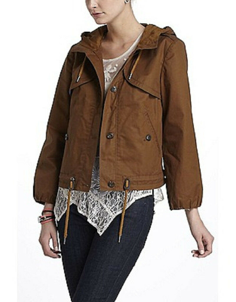 NWT NEW Anthropologie Climatic Cropped Anorak Sz 6 Size 6 Retailed  148