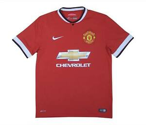 Manchester United 2014-15 Authentic Home Shirt (eccellente) M SOCCER JERSEY