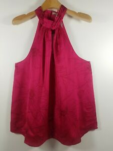 NWT-Women-039-s-joie-Cedra-B-Top-Size-M-8-198-Fuchsia-Fully-Lined